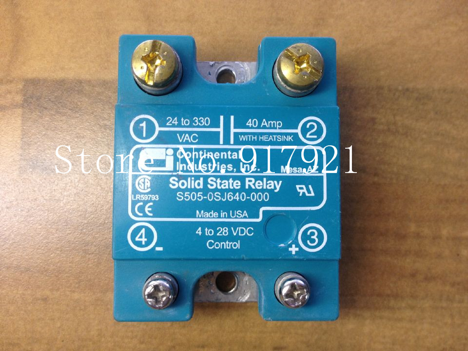 [ZOB] The original Continental S505-0SJ640-000 import 40A solid state relay --2pcs/lot [zob] united states crydom qantas cmd24125 10 import 125a120 240v3 32v solid state relay 2pcs lot