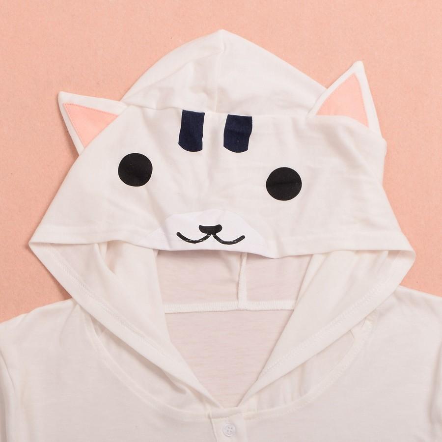 Cat Pattern Ears Hooded Shirt (12)