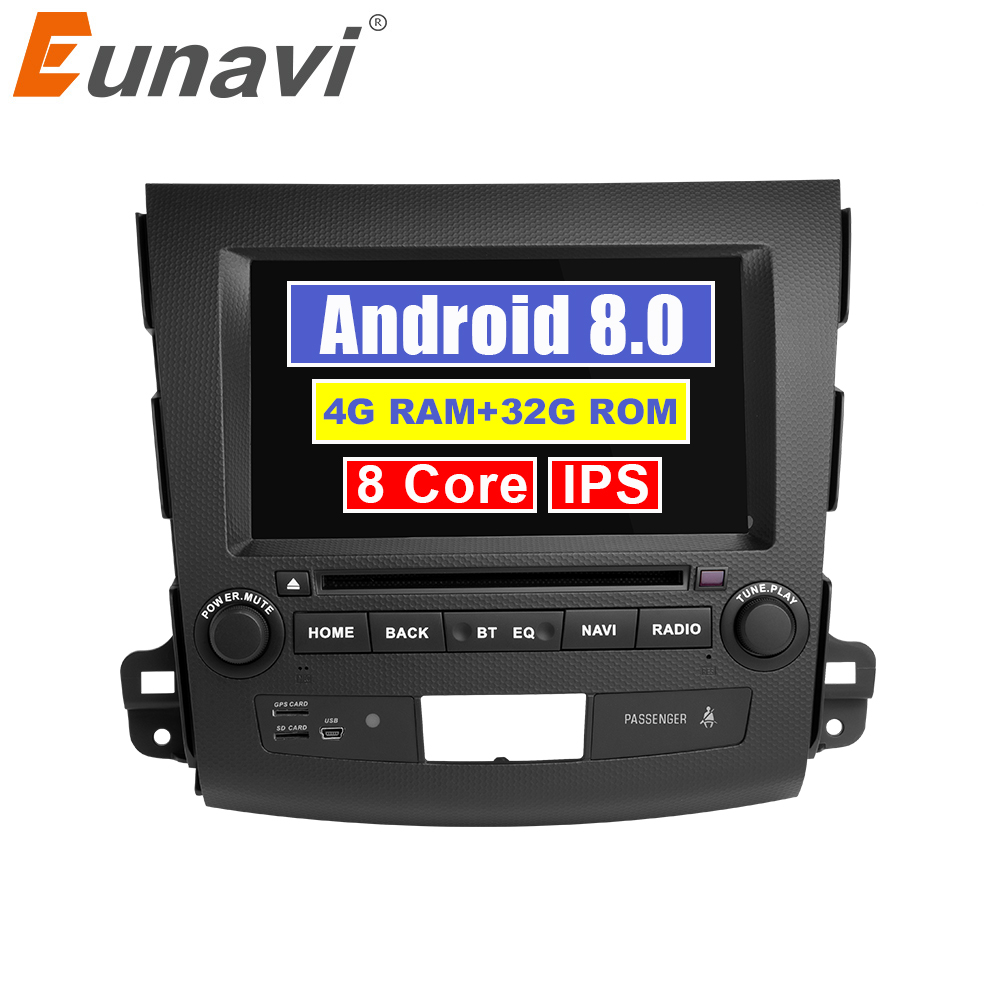 Eunavi 7 2 din Android 8.0 Car DVD Radio player for Mitsubishi Outlander 2006-2012 Citroen C-Crosser Peugeot 4007 GPS StereoEunavi 7 2 din Android 8.0 Car DVD Radio player for Mitsubishi Outlander 2006-2012 Citroen C-Crosser Peugeot 4007 GPS Stereo