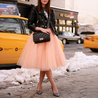 Summer Prom Bride Wedding Party Ladies Skirt Women Adult Wear Ball Party TuTu Tulle Skirt ytl0057 F002
