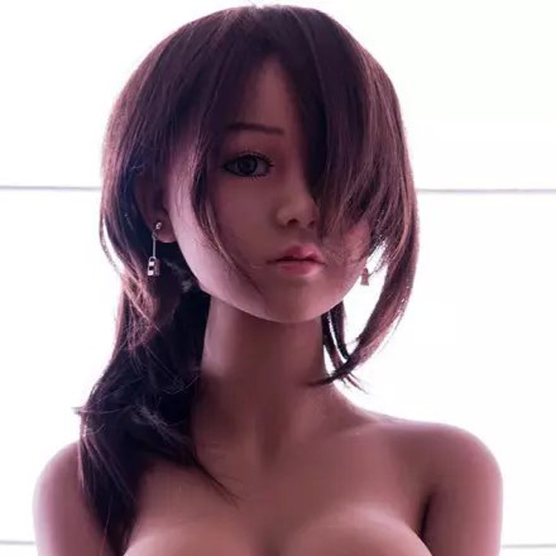 WMDOLL Top quality Brown skin sex doll head for love doll silicone sex dolls heads with