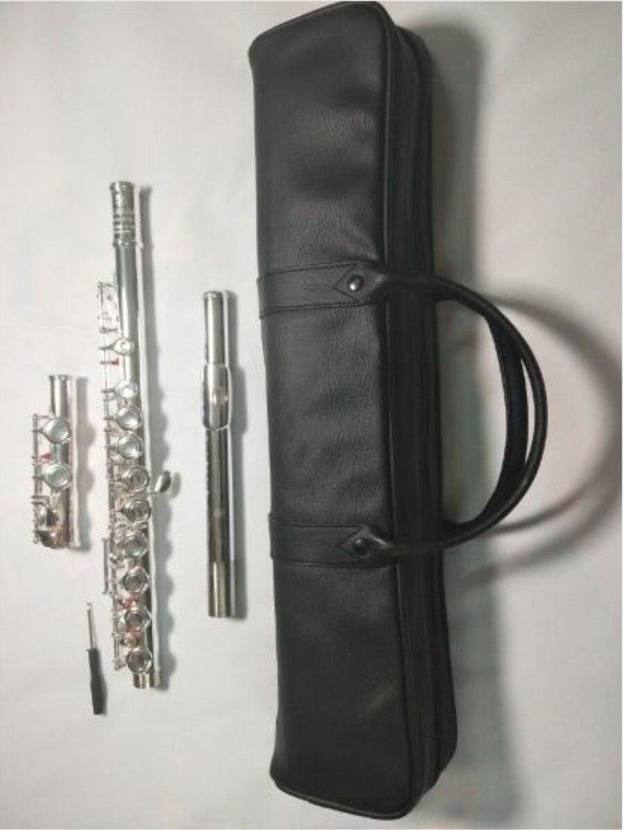 2018 Новое прибытие флейта YFL211SL игры Музыкальный Инструмент 16 Закрытая отверстие E ключ музыка C мелодия флейты Медь Никель Бесплатная достав