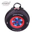 Aosbos 3d crianças mochilas sacos meninos das meninas do bebê crianças do jardim de infância dos desenhos animados mini roda eva pneu com zíper mochila escolar