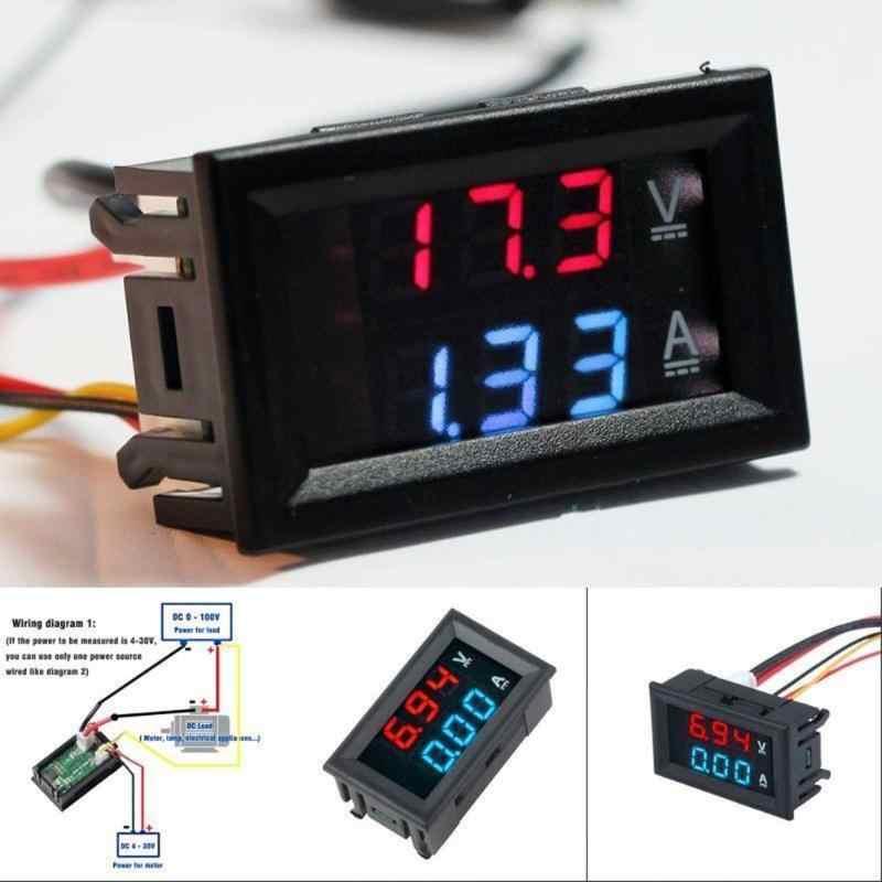Dc 0 100v 0 10a Car Voltmeter Ammeter Tester Panel Led Dual Lcd Digital Display2 3 Wires Current Voltage Monitor Volt Amp Meter Voltage Monitor Dc 0 100vvolt Amp Meter Aliexpress