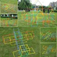 Детские строительные игры, строительные блоки для туннелей, игровая площадка, игрушки для сборки, обучающая игрушка для помещений, комбинир...