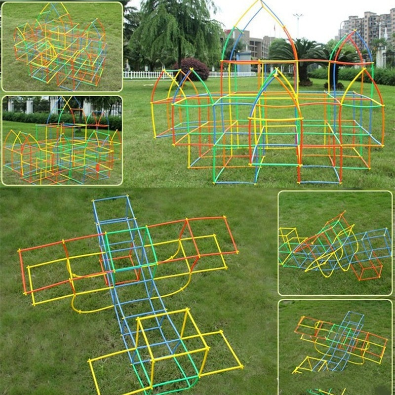 Children Build Games Tunnel Building Blocks Playground Toys Assemble Educational Toy Indoor Combined Play Games Outdoor Game