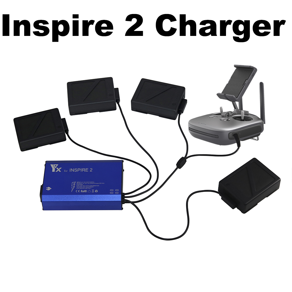 5 IN 1 Inspire 2 Battery Charger Fast Charging Hub for DJI Inspire 2 Drone Batteries Remote Control Quick Charge Battery Manager