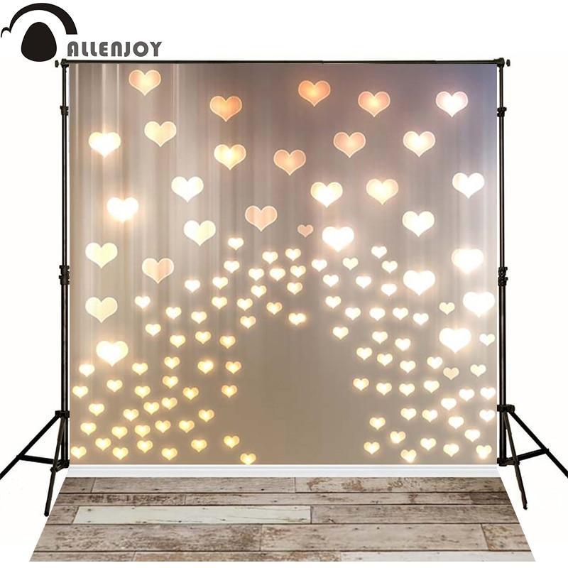 Allenjoy foto achtergrond gouden harten liefde lichten houten bord - Camera en foto
