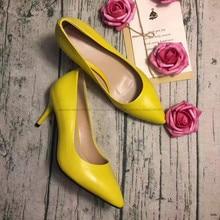 bacia  sheep skin high heels women genuine nutural leather pumps fashion elegant wedding pink red shoes handmade shoes