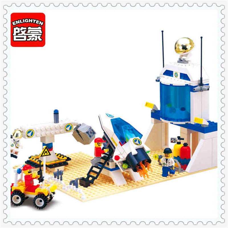 ENLIGHTEN 513 International Space Station Astronaut Building Block 292Pcs Educational Toys For Children Compatible Legoe