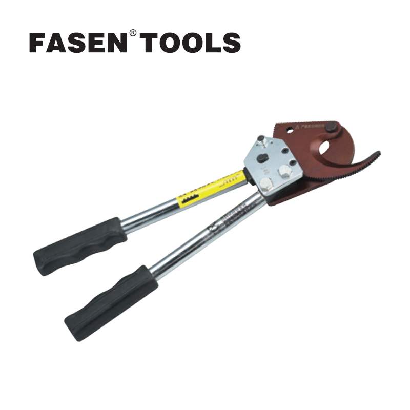 купить FASEN TOOLS J40 Ratchet Cable Cutter knives can be sharpened or replaced Wire Cutter Plier not for cutting steel wire Hand tools дешево