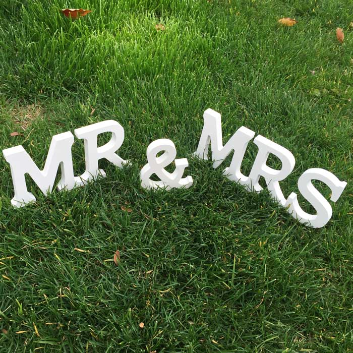 Mr & Mrs знаки Mr & Mrs буквы для милая Таблица Декор Mr & Mrs lettersmr & Mrs свадьба знак 2 компл.