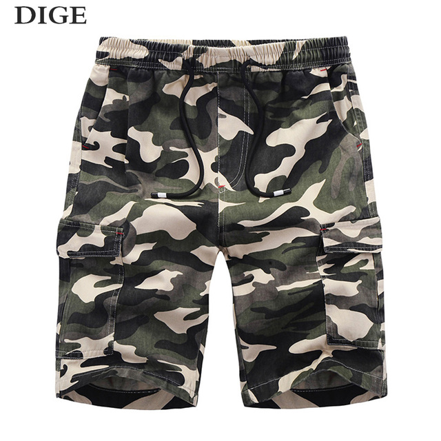 2018 New Casual Shorts Men Summer Top Design Camouflage Military Casual Shorts Homme Cotton Fashion Brand Clothing DK18004