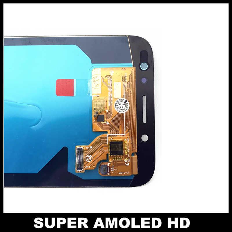 لسامسونج غالاكسي J7 برو 2017 J730 J730F AMOLED شاشة الكريستال السائل مع شاشة رقمية تعمل بلمس مع سطوع تعديل استبدال