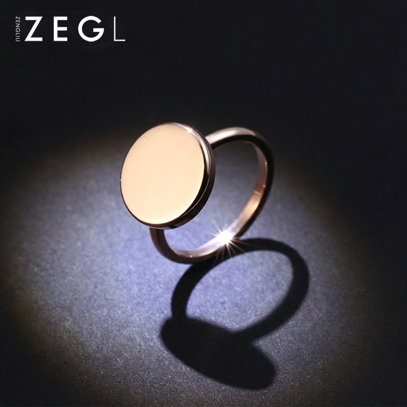 ZEGL simple fashion ring titanium ring creative personality ring for women index finger ring couple jewelryZEGL simple fashion ring titanium ring creative personality ring for women index finger ring couple jewelry