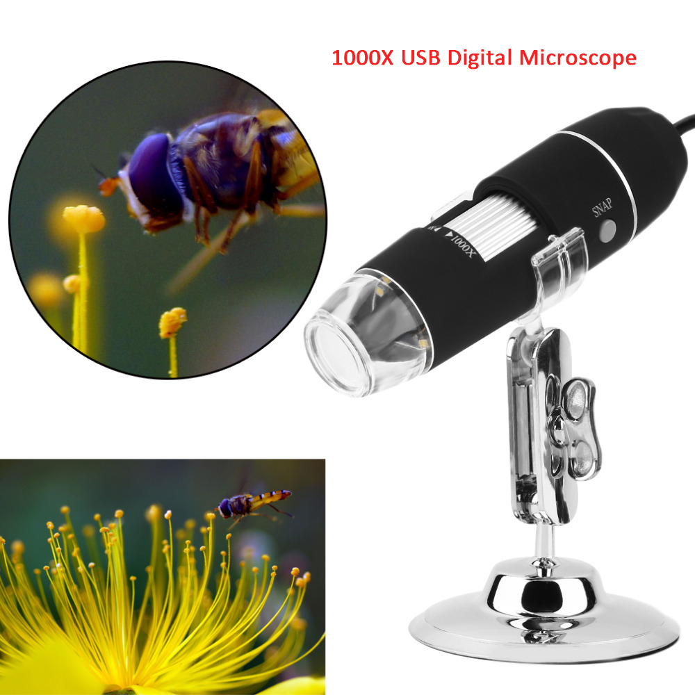 цена Newest 1000X 8 LED Electronic Microscope Digital Microscope USB Endoscope Camera Microscopio Magnifier Electronic Stereo Z P4PM