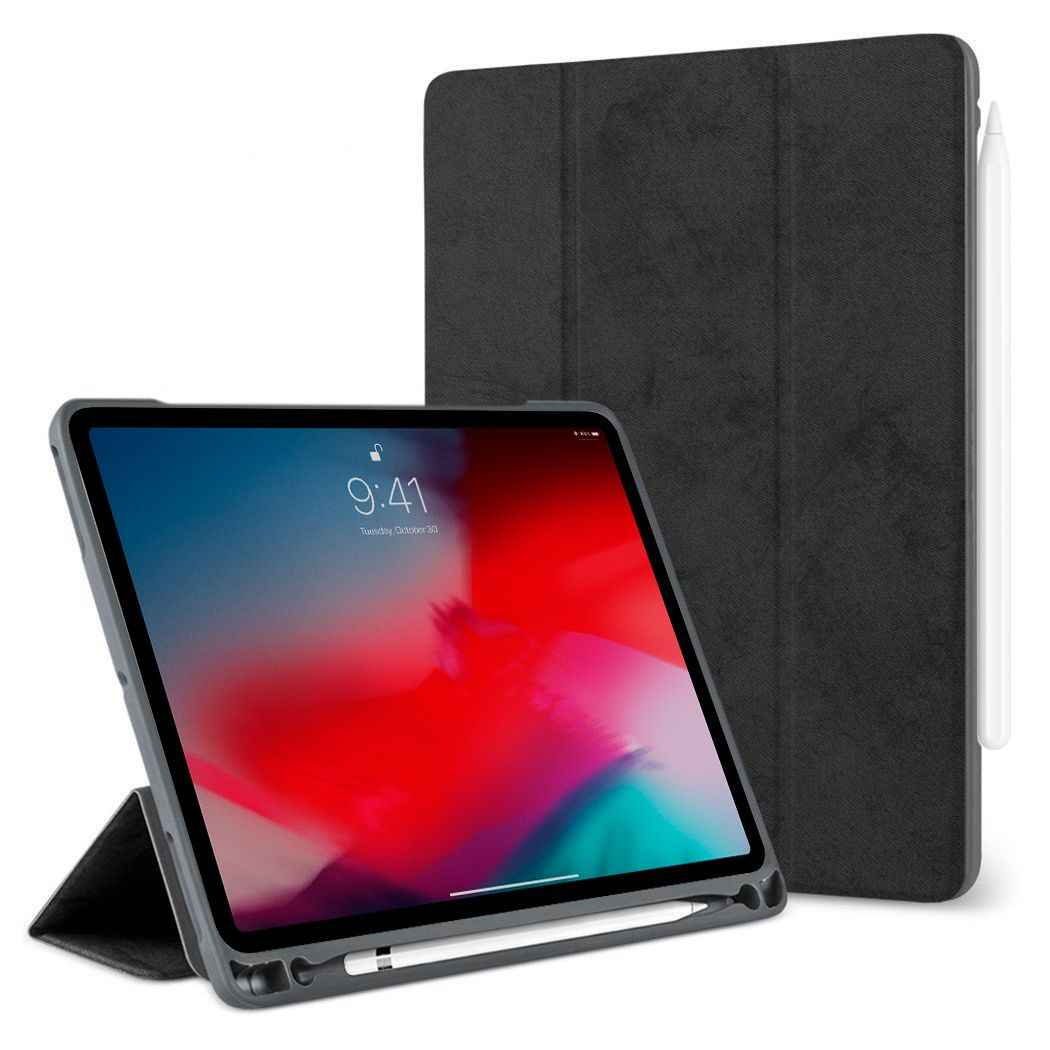 Case For iPad Pro 12.9 with Pencil Holder 2018 2017 2015 Premium PU Leather TPU Soft Cover for iPad Pro 12.9 2018 Case+film+pen
