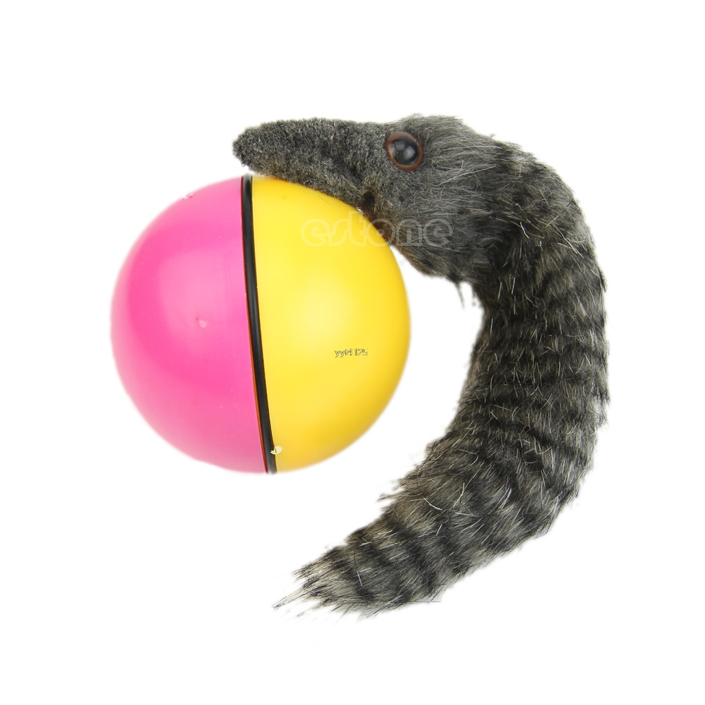 Beaver Weasel Rolling Motor Ball Pet Cat Dog Kids Chaser Jumping Fun Moving Toy Yj41