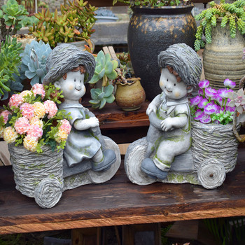 Creative kids flowerpots cute fleshy potted home decoration garden balcony large flower gardening garden decoration