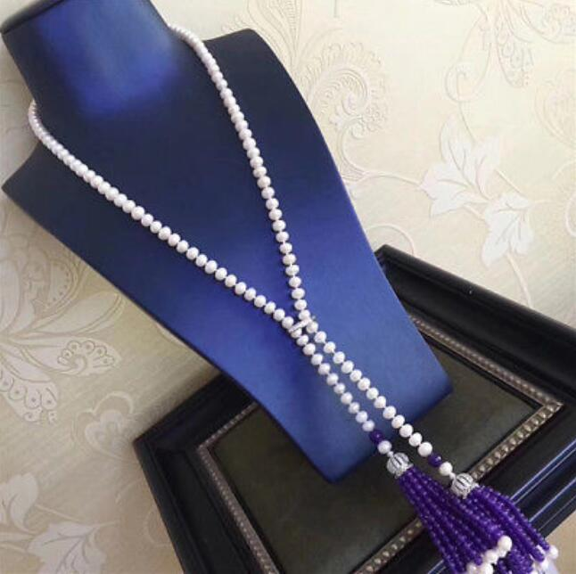 new style jewelry 8 mm 40 long white pearl necklace Christmas giftnew style jewelry 8 mm 40 long white pearl necklace Christmas gift