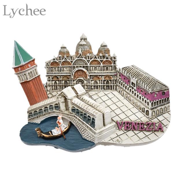 Lychee 1pc Venice Fridge Magnet 3D Refrigerator Magnets Travel Souvenir DIY Handmade Home Decoration