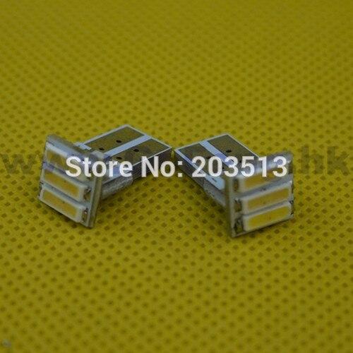 10pcs/lot 2014 new products t10 w5w led car lighting 12v 3 smd 7014 3 leds 194 7020 SMD white & cheap bulb FREE SHIPPING