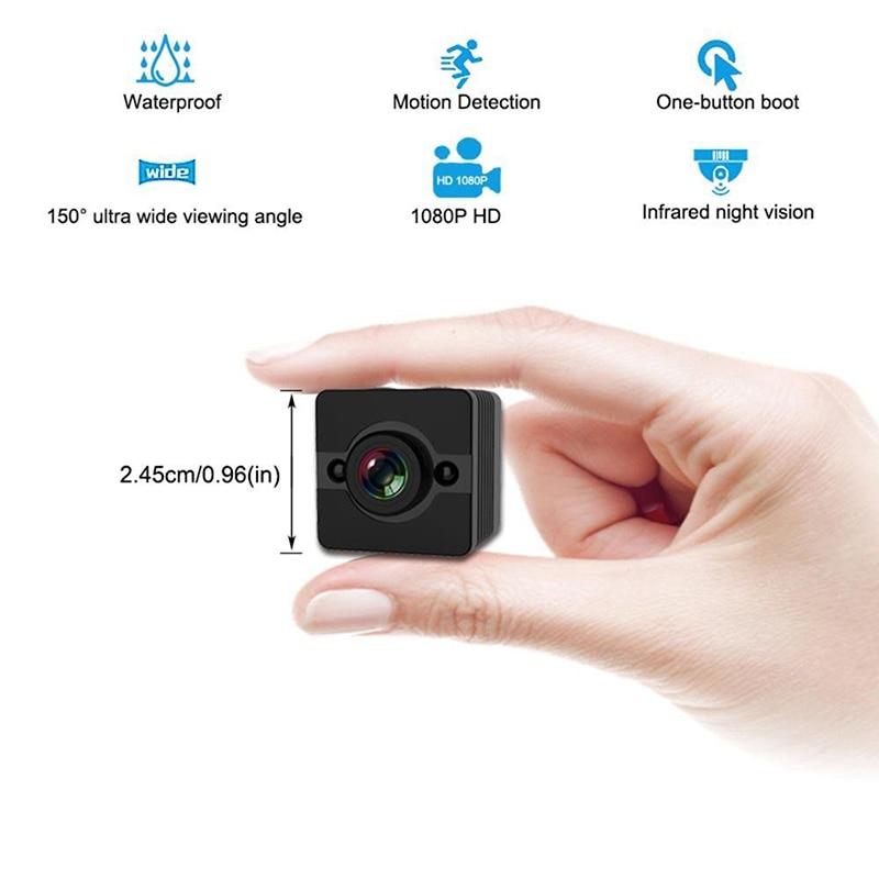 купить HD 1080P Mini Camera SQ12 Night Vision DVR Infrared wireless Camera Camcorder Car Support TF Card DV camera Video Recorder Cam по цене 542.62 рублей