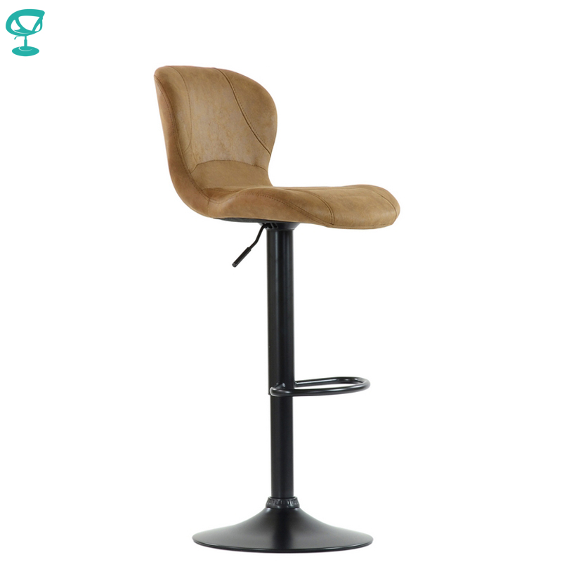 95562 Barneo N-86 VPU Leather Kitchen Breakfast Bar Stool Swivel Bar Chair Vintage Rusty Color Black Leg Free Shipping In Russia