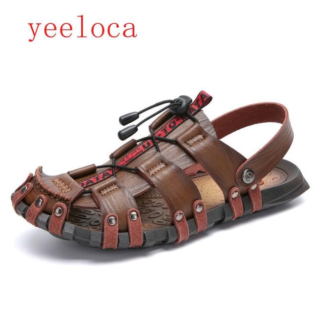 dc5968fdaad93a Yeeloca 2019 new sandals men s shoes casual khaki beach lightweight slippers  sandals XL summer outdoor shoes