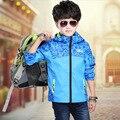 Nuevo 2017 chaqueta de niños Abrigos 6-14 Años Los Niños Abrigos Boy Sport Coat Niños Outwear Water-a prueba de Deporte Chaquetas Abrigos