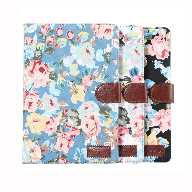 Luxury Flower Cloth Print Flip Stand Protective Leather Card Slot Holder Book Cover Case For Apple ipad mini 4 Mini4 4Gen Tablet for ipad mini 4 case tablet cover luxury pu leather protective stand holder 7 9 inch for apple ipad mini 4 flip case mimi4 capa