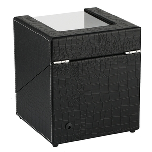 Image 3 - Krokodyl automatyczne mechaniczne pokrętło zegarka biały węgiel podwójny zegarek uzwojenia pole cichy silnik zegarki pudełko do przechowywania biżuterii