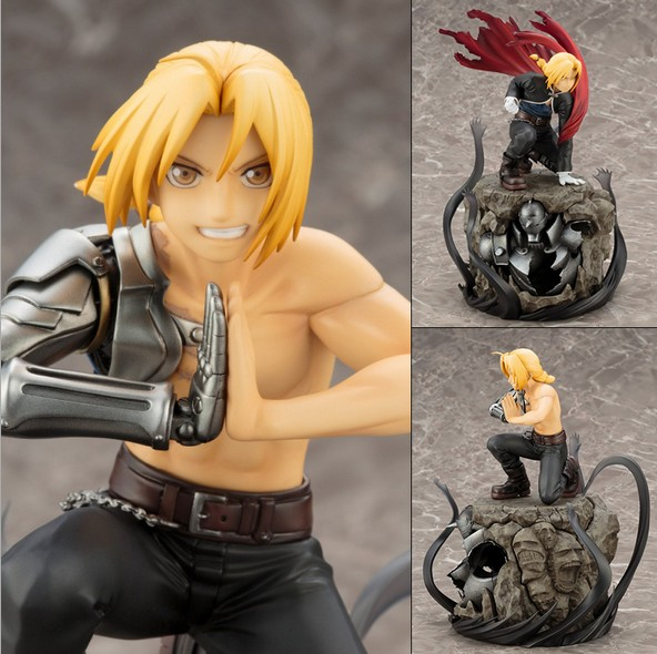 NEW hot 22cm Fullmetal Alchemist Edward Elric action figure toys collection doll Christmas gift no box 2.0 new hot 23cm the frost archer ashe vayne action figure toys collection doll christmas gift with box