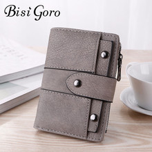 BISI GORO 2019 PU Leather Wallet for Women Top Quality Women Short Wallet Purse Ladies Small Mini Wallet with Zipper Card Holder