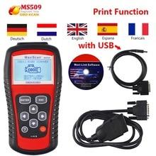 Autel MaxiScan MS509 OBD2 диагностический сканер неисправностей двигателя автоматический считыватель кодов MS509 OBDII считыватели кодов и сканирующие инструменты
