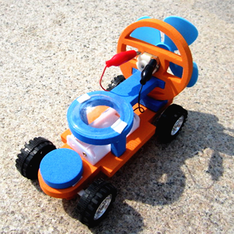 Science Education Toy Children DIY Wind Propulsion Motor Racing Experimental Model Material