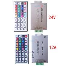 цена на 1Pcs DC 12V-24V  12A /24A  44Key LED IR wireless Remote Controller Control For 3528 5050 RGB  LED Strip Light.