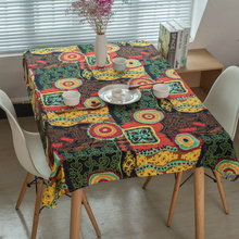 Bohemia National Wind Tablecloth Bodhi Flower Linen Western Food Dust-proof Cover Towel Restaurant Desktop Decorative Cloth