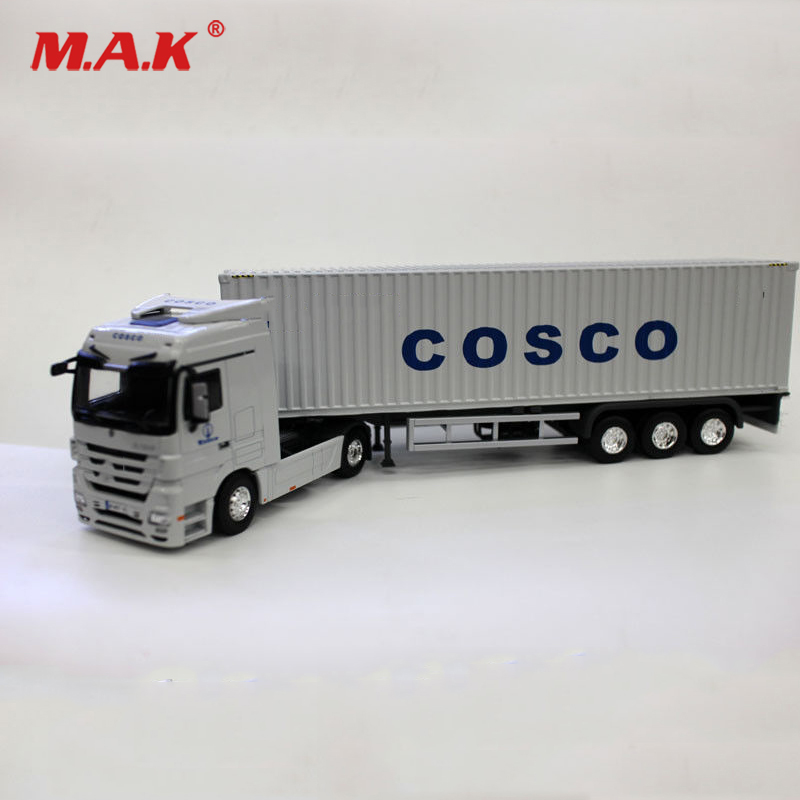 1/50 échelle conteneur modèle camion CO SCO camion expédition moulé sous pression blanc Transport voiture jouets pour enfants Collection cadeau