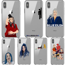 Billie eilish rainbow blohsh Ocean Oczy Miękkie Silikonowe TPU Phone Case Back Cover Dla iPhone X 5 5S SE 6 6 SPlus 7 8 Plus XS MAX XR(China)