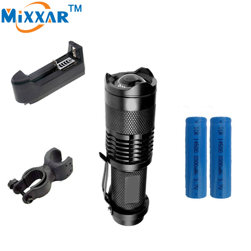 RUZK50 Bicycle Light LED Bike Light Front Torch CREE Q5 Mini 2000LM LED Flashlight 3 Modes Zoomable LED lanterna Waterproof 10pcs in 1 free shipping flashlight lanterna q5 led mini black cree 2000lm led flashlight 3 modes zoomable led torch light zk50
