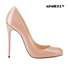 Shoes Women Round Toe High Heels Pumps F