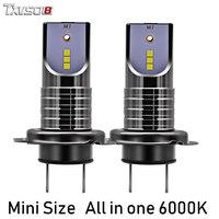TXVSO8 2PCS bombilla LED H7 Car Light Bulbs CSP Chips 30000LM 6000K H11 Led Headlight Bulb 12v 50W Auto ampoule Front Headlamp