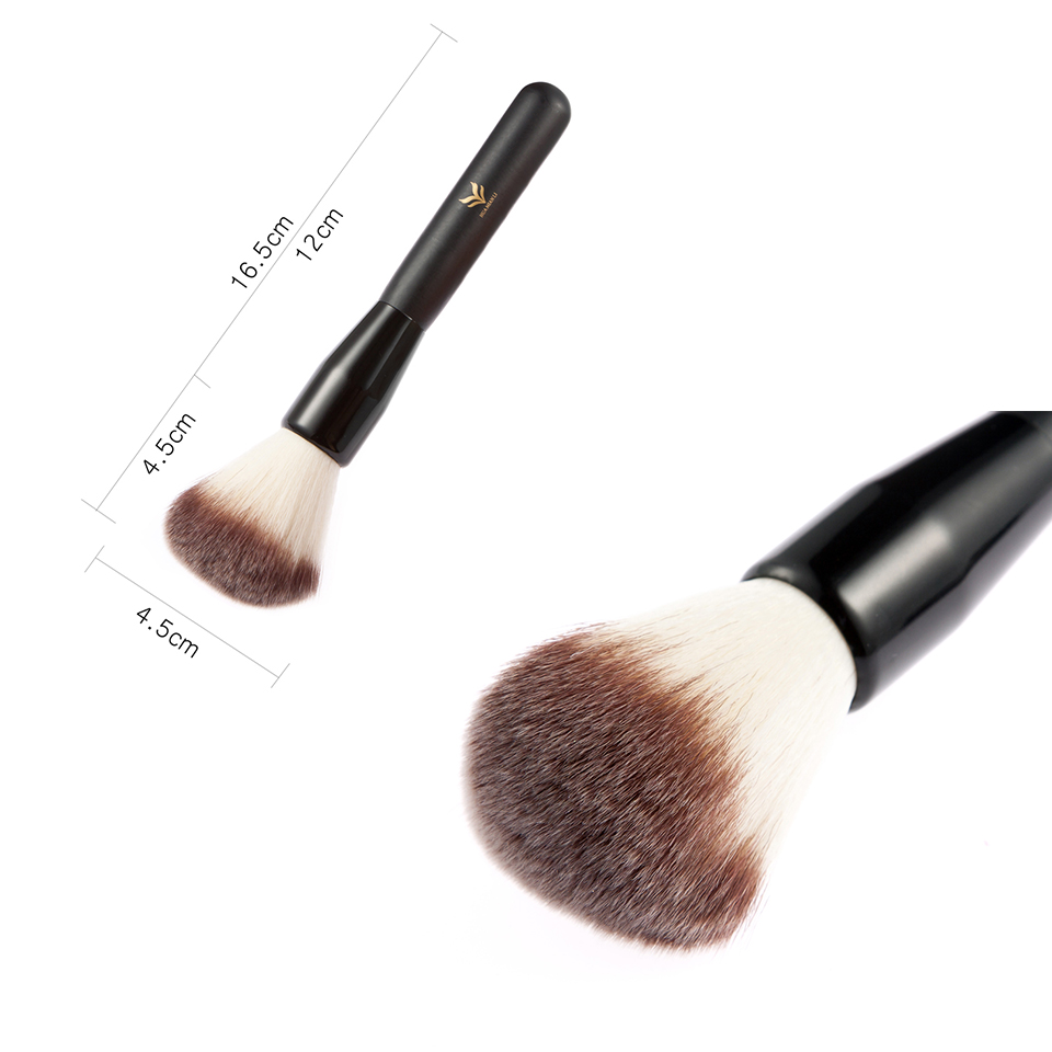 Black Plastic Handle&Brown And White Hair Brush 26g/Pcs Single Cosmetics Makeup Brushes Beauty Powder And Blush High Quality brand new cosmetics 7 hourglass finishing brush blush brush makeup single brushes item same as photo