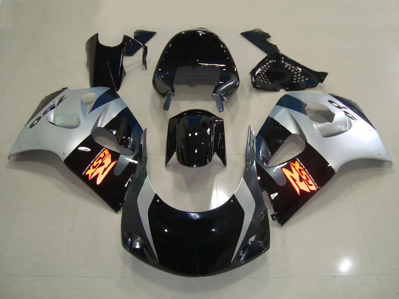Fairing kit for SUZUKI GSXR600 750 96 97 98 99 00 GSXR 600 GSXR 750 1996 1999 2000 ABS silver black Fairings set+7gifts SW02