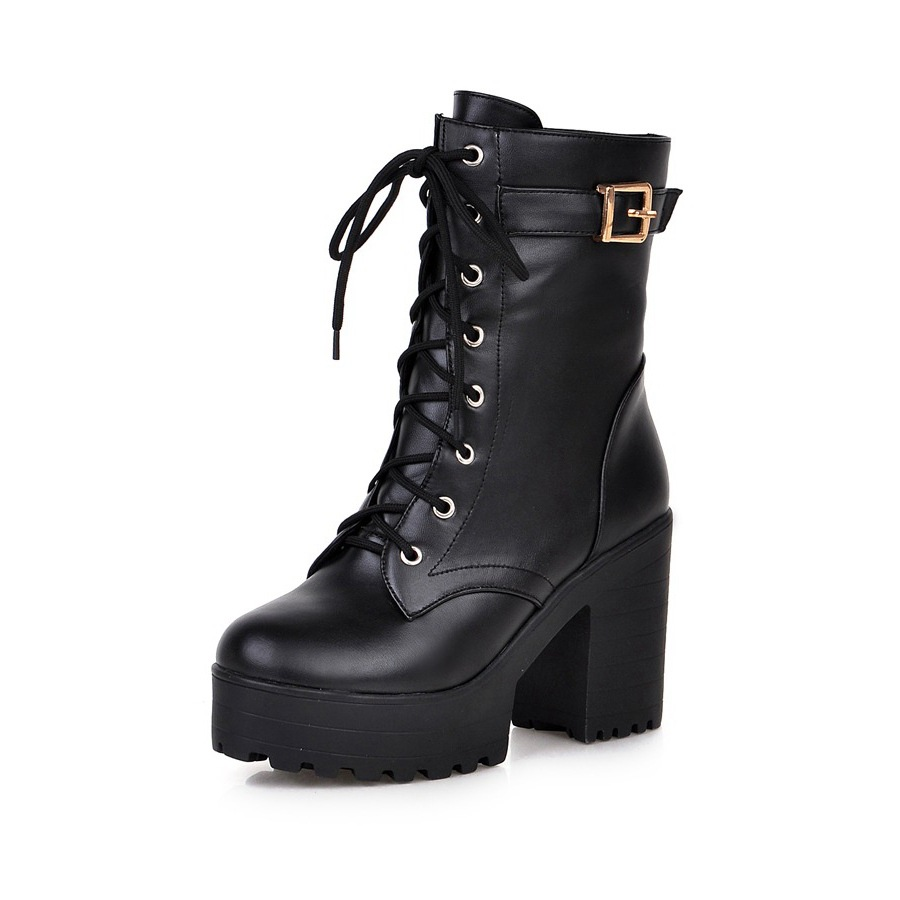 ᐅFashion 2016 Women Martin Boots (ツ)_/¯ Lace Lace Up High ...