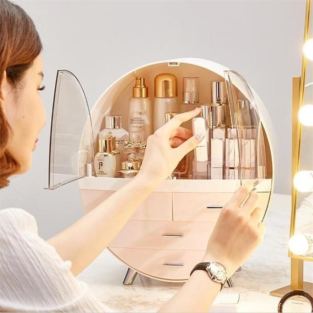 Home Fashion Drawer Makeup Storage Box Bathroom Brush Lipstick Holder Desktop Acrylic Jewelry Cosmetic Skin Care Organizer Rack 3