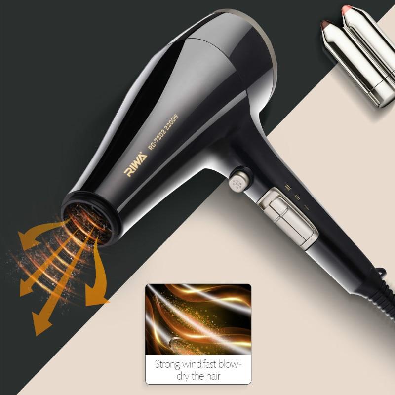 Riwa 2200W Professional iHair Dryer Honeycomb Wind Inlet Hairdryer Prevent Damage Hair Lock Moisture Not Foldable Blow Dryer P42 цена и фото