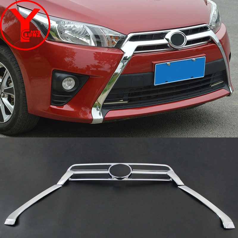 chrome front grille cover For Toyota Yaris L hatchback ...