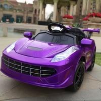 Для детского электромобиля четыре колеса двойной привод 2,4 г Bluetooth дистанционное управление автомобиль Детская прогулка на автомобиль малы